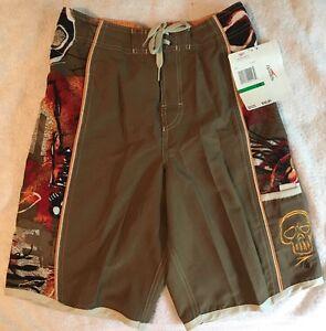 Speedo Boy's Board Shorts *NEW* Size L Java Brown