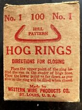 Vintage Box Of Western Wire Co Hog Rings No 1