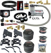 """Air Bag Tow Kit & Control In Cab White Gauge 2001-10 Chevy 8 Lug Truck Lifted 4"""""""