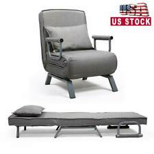 Sofa Bed Folding Arm Chair Single Sleeper Bed Chair Leisure Recliner LoungeCouch