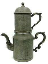 More details for chinese towered tea pot teapot pewter swatow hgeehing hgeehihg