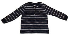 Ralph Lauren Baby, Blue/white Stripped Long Sleeve Shirt, 18M