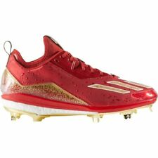 Adidas Energy Boost Icon 2 Celebration Metal Baseball Cleats Red Gold Size 13