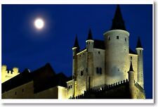 Alcazar Castle by Moonlight - Segovia Spain Art Print POSTER