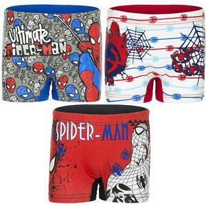Underwear Boys Spiderman Red Blue White Boxer Shorts 92-98 104-110 116-122 #37b