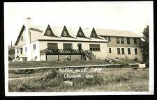 Vintage Postcard View Of Manoir Au Lac Simon Cheneville Quebec