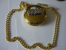 Fore TG7 GOLF peltro su un orologio da taschino in oro al quarzo Fob