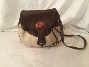 Dooney & Bourke Vintage Teton Multicolor Bucket Bag Saddlebag Purse Rare