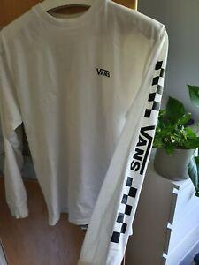 Vans White Long Sleeve T Shirt Size Medium