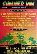 SUMMER JAM - 1997 - Konzertplakat - Reggae - Ziggy Marley - Spearhead - Poster