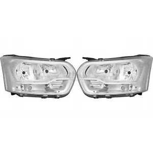 Headlight Set for Ford Transit Pickup/Chassis Box Bus Built 13- >>