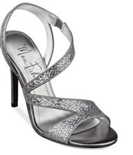 1fca1dacdf2 Marc Fisher GEENA Strappy Silver Sandals UK 6 Medium Width EU 39 LG08 94  SALEs