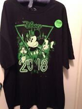"""Disney Mickey Mouse Black """"Glow in the Park"""" 2018 T-Shirt Sz 3X New w Tags"""