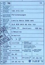 Lancia Beta 2000 HPE / 1300 Autoteile zum Ausschlachten