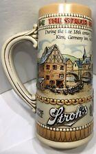 Stroh's Brewery Company Stein Beer Mug Heritage Series 2 Ceramarte Brazil #75527