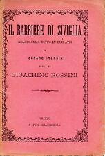 LIBRETTO D'OPERA Il barbiere di Siviglia - G. Rossini/C. Sterbini