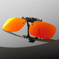 Polarized Flip Up Clip On Sunglasses 100% UV 400 Protection Fishing Men Women