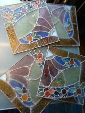 4 VITRAUX ANCIENS 36 x 36 cm