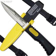 Muela Tauchermesser Rettungsmesser Kunststoffscheide schwarz/gelb Beinriemen