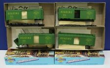 Athearn HO 40' Boxcar Kit Reading RDG 4 pack 4 kits different car #s NIB