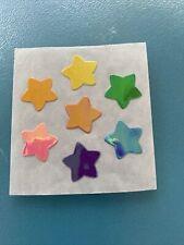 Sandylion Vtg Sticker Mod Mother Of Pearl Opal Rainbow Stars