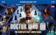 Doctor Who: The Complete Matt Smith Years (Blu-ray Disc, 2014, 16-Disc Set) New