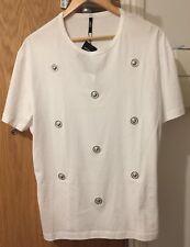 Versus Versace WHITE LION médaillon Rivets T shirt L, XL, XXL