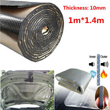 10mm 1.4m×1m Car Hood Firewall Sound Heat Shield Insulation Deadener Floor Mat