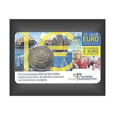 Original 2 euro coincard 10 años euro efectivo Países Bajos 2012
