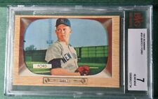 1955 Bowman Whitey Ford #59 BVG 7 NR MINT BEAUTIFUL YANKEES no Topps card in 55