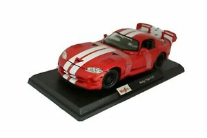 Maisto Red Dodge Viper GT2 With Black Rim 1:18 Special Edition Diecast Model Car