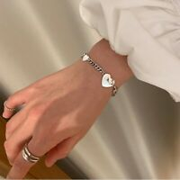 925 Sterling Silver Womens Bracelet Bangle With Chain Link