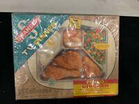 SWANSON 1960s TV DINNER Fried Chicken vtg frozen food + tray Advertising Box