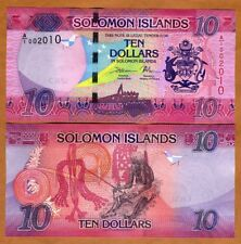 Solomon Islands, $10, ND (2017), P-New, A/1 UNC > Redesigned