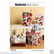 Butterick 6362 Easy Sewing Pattern to MAKE Cylindrical & Rectangular Storage Bin