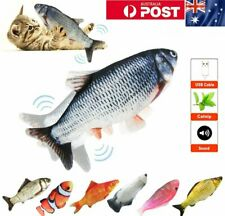 Electric Dancing Fish Kicker Cat Kid Toy Wagging Realistic Moves USB Rechargable