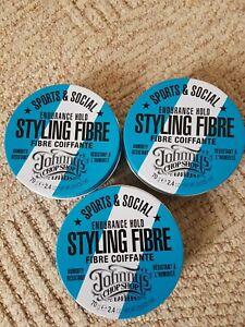 New 3 x Johnny's Chop Shop Hair Styling Fibre 70g Endurance Hold Sport Social