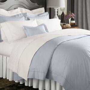 $182+tax SFERRA Set Of 2 Celeste Percale Standard Pillowcases Ice Blue ITALY NWT
