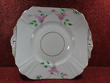 "THOMAS FORESTER FUSCHIA Hand Painted 9.5"" CAKE PLATE 1930-40 FREE UK POSTAGE"