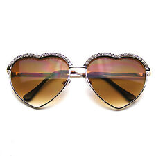 Cute Chic Heart Shape Glam Rhinestone Heart Sunglasses