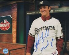 Clint Coulter Milwaukee Brewers Signed Autographed 8x10 Photo FSG Authentic