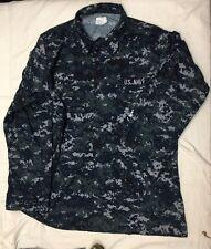 US NAVY Working Uniform  NWU Blouse Top Coat shirt size LARGE - X Long