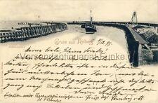 Ansichtskarte Gruss aus Kolberg Hafeneinfahrt 1898 Kolobrzeg Polen