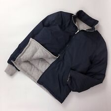 RARE Loro Piana Men CASHMERE REVERSIBLE Down Puffer Bomber Jacket Coat Size M L