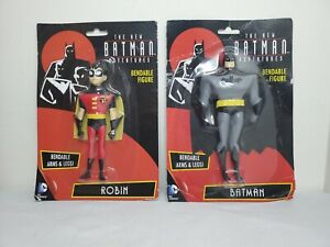 THE NEW BATMAN ADVENTURES 2 pack BATMAN & ROBIN BENDABLE FIGURE Animated Series