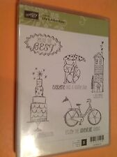 "Stampin Up Hostess set ""Life's Adventure"" Stamp Set ""New"" Fox, House, Cake, Bike"