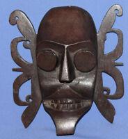 Vintage Burma Tribal Hand Carved Wood Wall Decor Mask