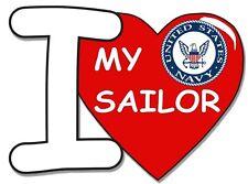 "I Love My Sailor Heart 3.8"" Decal / Sticker"