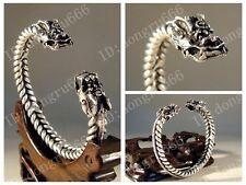 Hot! Fashion Jewelry Tibet Tibetan Silver Double Dragon Amulet  Bracelet  AAA779