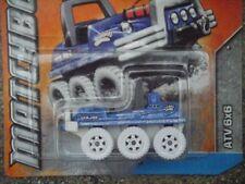 MATCHBOX 2012 #071/120 ATV 6X6 TUTTI I TERRENI VEICOLO BLU MOTOSLITTA FEB12